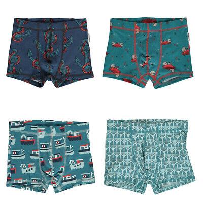 Maxomorra Organic Boxer Shorts | Crab | Anchor | Sail Boat | 2 3 4 5 6 7 8 9 10