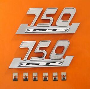 DUCATI-750-GT-BEVEL-PLASTIC-SIDE-PANEL-BADGES-CLIPS-PAIR-LAST-SET-NO-MORE