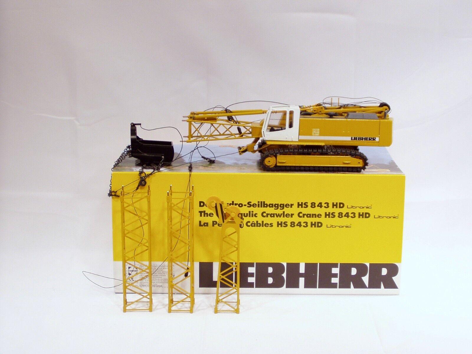 Liebherr 843 Dragline - 1 50 - Conrad  2732 - MIB