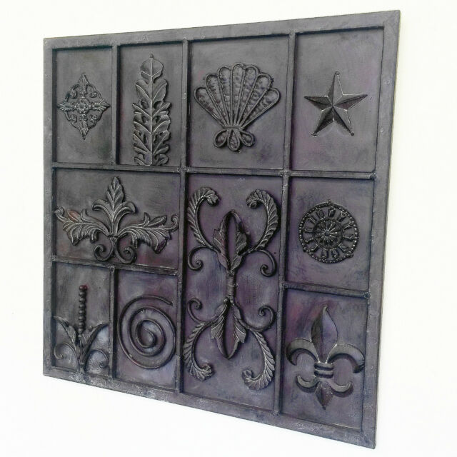 Home Garden Wrought Iron Metal Art Wall Sculpture indoor outdoor Decor 61cm