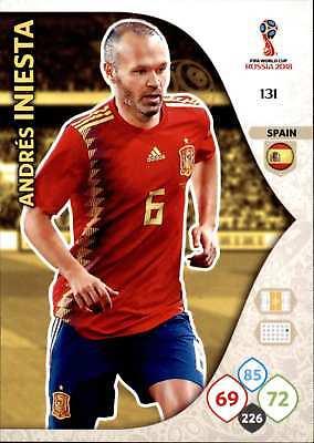 2019 Nieuwste Ontwerp Panini Wm Russia 2018 - Nr. 131 - Andres Iniesta - Team Mate