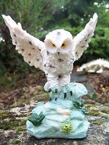 Mo0283 Figurine Statuette Hibou Chouette Des Neiges Fiugupeo-07222856-782640388
