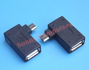 Micro-USB-Left-Right-Angle-OTG-Adapter-Power-For-Samsung-Galaxy-Note-5-4-Edge