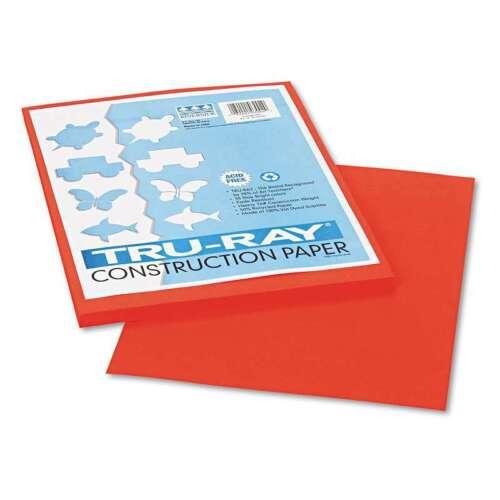 50 Sh 084001030020 Orange 9 x 12 76 lbs. Pacon® Tru-Ray Construction Paper