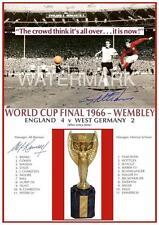 ENGLAND 1966 Coppa del Mondo Finale ALF RAMSEY & Geoff Hurst firmato (prestampato)
