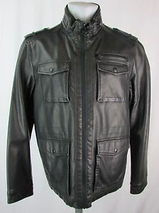 e68f7936eb Image is loading Dockers-Men-039-s-Black-Faux-Leather-Field-