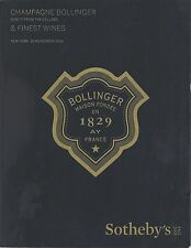 SOTHEBY'S FINEST WINES CHAMPAGNE BOLLINGER DIRECT From CELLARS Catalog 2016