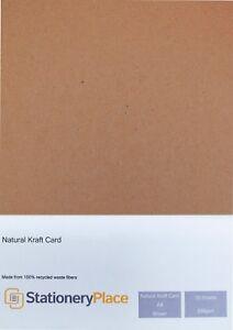 Grueso Kraft marrón Tarjeta Reciclado-A4 50 Pack 280gsm Ideal Para Bodas Craft  </span>