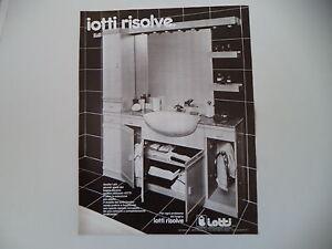 advertising Pubblicità 1981 ARREDAMENTI BAGNO IOTTI - VILLAROTTA (RE ...