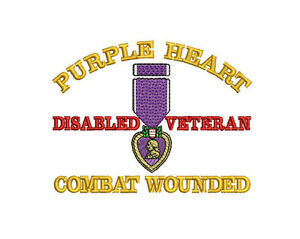 PURPLE-HEART-MEDAL-COMBAT-WOUNDED-ARMY-MILITARY-VETERAN-EMBROIDERED-POLO-SHIRT