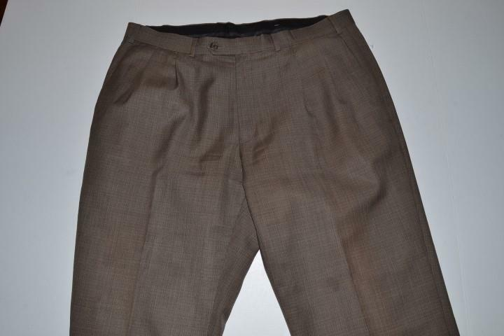 LAUREN RALPH LAUREN BROWN PLAID CUFF DRESS PANTS MENS SIZE 36 X 31
