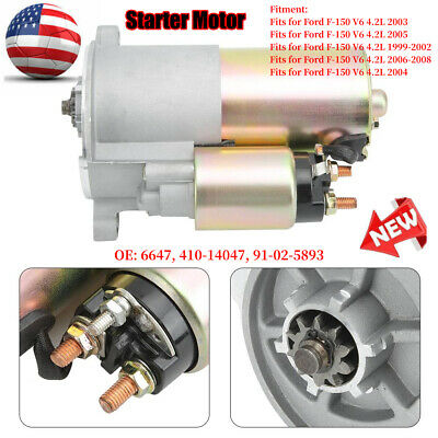 Starter Motor 6647 Replacement Fits For Ford F 150 V6 4 2l 2003 99 02 410 14047 Ebay