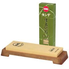 Japanese 6000 Grit Whetstone King Super Finish Stone Sharpener with Base