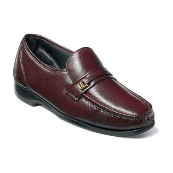 Florsheim Mens Riva Burgundy Shoes Easy