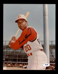 Frank-Robinson-PSA-DNA-Coa-Hand-Signed-8x10-Reds-Photo-Autograph