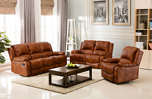 Image Is Loading New Valencia Bonded Leather Recliner Sofa Suite 3