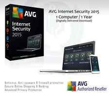 AVG Internet Security 2015 - 1 Computer / 1 Year Protection | License Key Only
