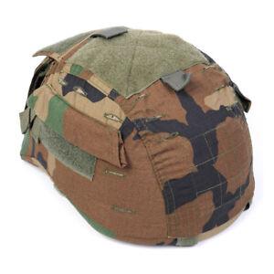 Emerson-Hunting-Tactical-Helmueberzug-Woodland-Camo-fuer-MICH-TC-2001-ACH-Helmet