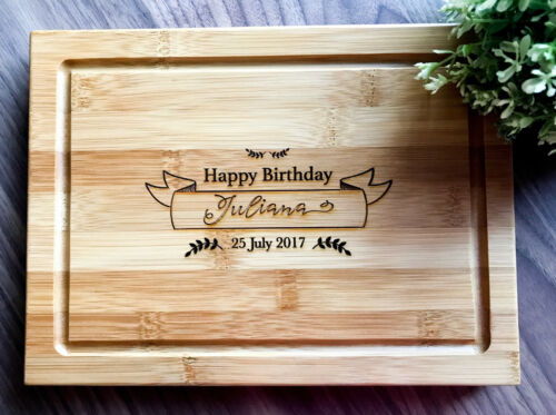 Custom Serving Cheese Board Personalized Chopping Board Birthday Gift