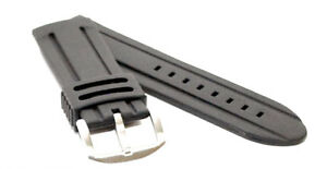28mm-Black-Diver-Style-MODENA-Rubber-watch-strap-band-for-Big-Watches