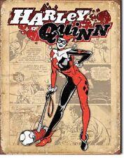 Harley Quinn Suicide Squad Superhero DC Comic Disstressed Decor Metal Tin Sign