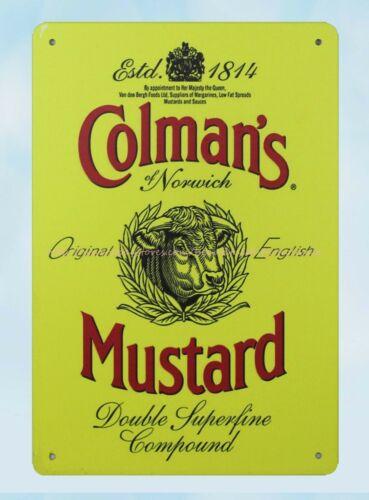 Colman/'s Mustard metal tin sign unframed wall art
