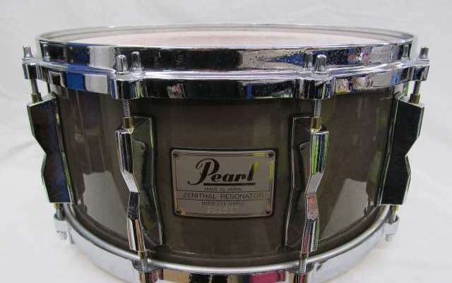 Used PEARL Zenithal Resonator Birds Eye Maple Shell Snare Drum 14  Made in Japan