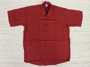 Freizeithemd-Viskose-Kurzarm-Hemd-mit-Brusttasche-bordeaux