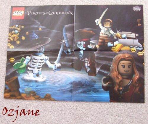 LEGO PIRATES OF THE CARIBBEAN PICTURE POSTER ISLA DE MUERTA 42CM X 30CM