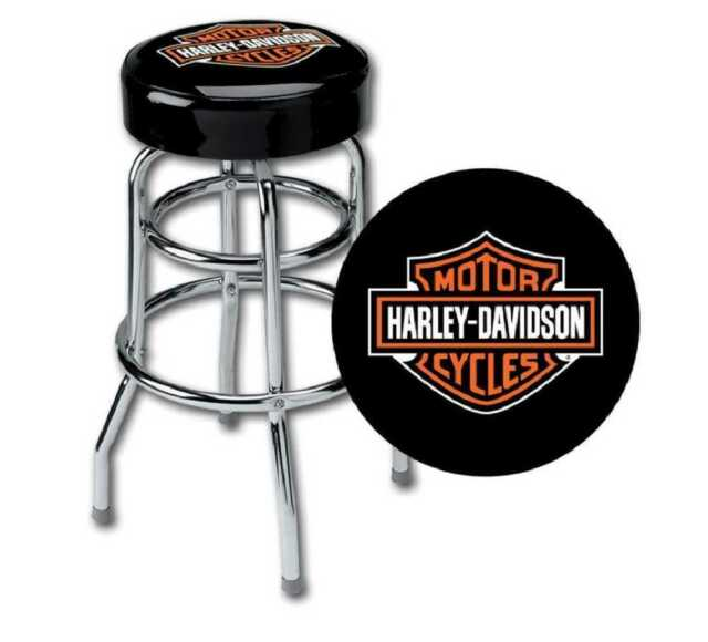 Harley Davidson Classic Bar & Shield logo Pub Bar Stool Man Cave Christmas Gift