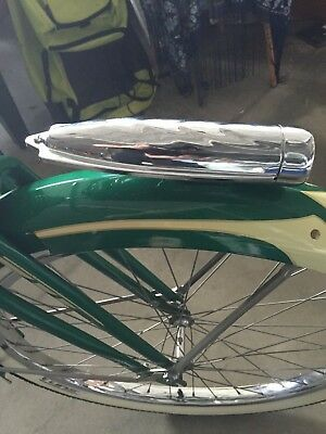 Chrome bicycle light SCHWINN headlight streamline COLUMBIA bike head light