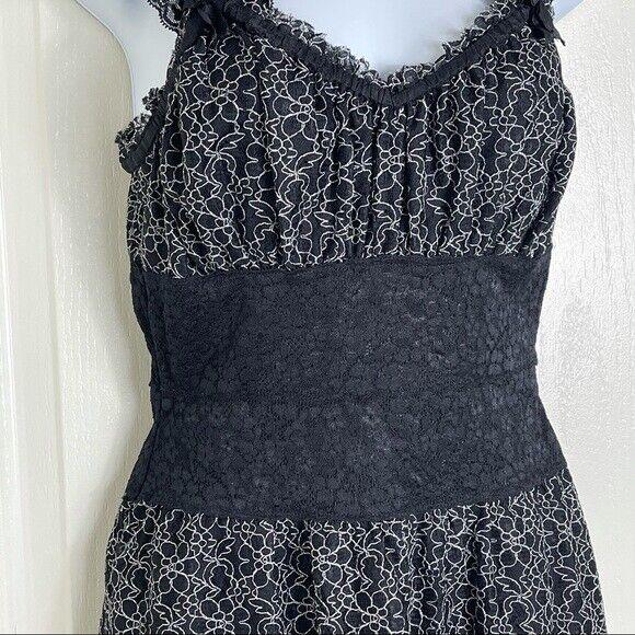 Betsey Johnson lace overlay Corset Dress Vintage - image 3
