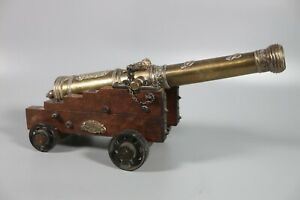 SPAIN-LARGE-CANNON-amp-CARRIAGE-MODEL-33cm