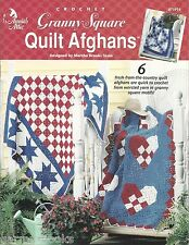 Granny Square Quilt Afghans Martha Brooks Stein Crochet Patterns Country NEW