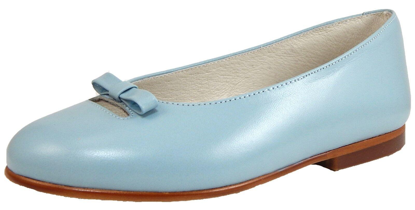 DE OSU S-1394 - Wouomo European Cloud blu Leather Ballet Flats - Dimensione 6-10