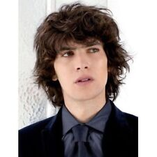 Shaggy Curly Vogue Deep Brown Toupee Handsome Short Synthetic Men's Wig Hair