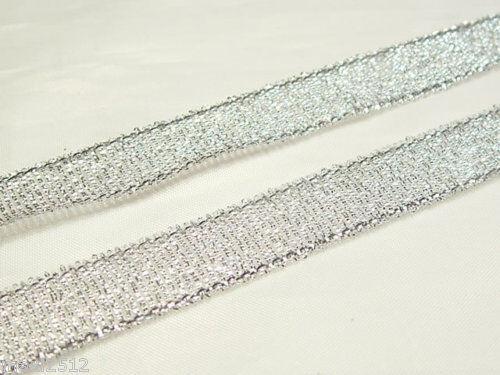 """3//8/""""//10mm Ancho Cinta de 25 Yarda Carrete Silver Glitter"""