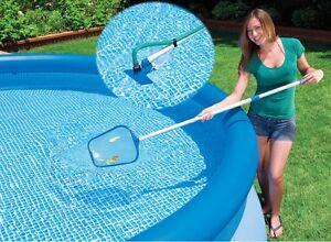 Détails sur kit entretien piscine Intex Epuisette Balai Venturi Manche aluminium nettoyage