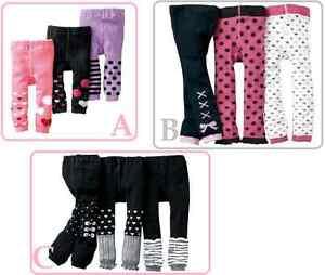 BULK 2 pairs set Baby Girls Sock Tights frill winter Socks *12m-4yrs* 1.2.3