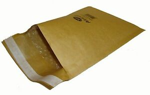 """100 sacs JL0 Jiffy Airkraft bubble enveloppes 5,5 x 7,5 /"""" Gold"""