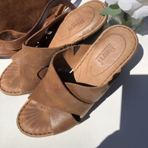 Women's Born Curstyn Tan(Natural) Wedge Heel Sanda