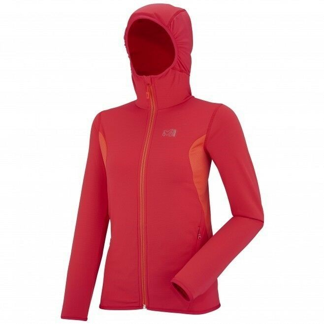 Millet Lady Tech Stretch Light Hoodie hibiscus Stretchfleece für Damen
