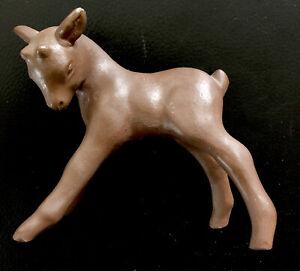 Bonita Antiguo Cabritillo Cabra Cerámica Braun - Gres Porcelánico