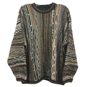 Vintage-COOGI-Style-3d-Pullover-strukturiert-Mercerized-Tundra-Canada-Groesse-XL-Biggie