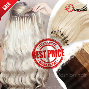 US-THICK-300S-Russian-Remy-Human-NANO-Loop-Micro-Ring-Beads-Hair-Extensions-P380