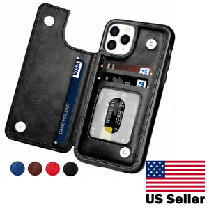 Leather Flip Wallet Card Holder Case For iPhone 12 Pro Max |