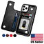 thumbnail 1 - Leather Flip Wallet Card Holder Case For iPhone 12 Pro Max |