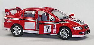 Nuevo-mitsubishi-Lancer-Evo-VII-coches-de-carreras-modelo-de-coleccionista-1-36-rojo-de-Kinsmart