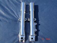 11-16 Chrome Harley Fork Legs Sliders Fatboy FLSTF P/N 45500014 Exchange Only
