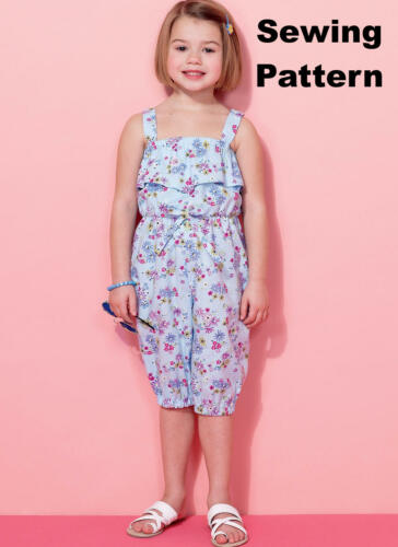 Size 2-8 McCalls M7376 PATTERN Childrens//Girls Rompers /& Jumpsuits